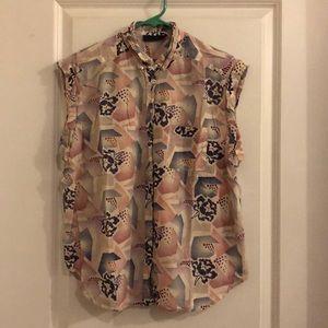 TOPSHOP sleeveless button up. US 8/EUR 40/UK 12.
